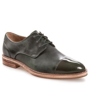 SALE J Shoes Oak Tree Green Leather Sally Derby
